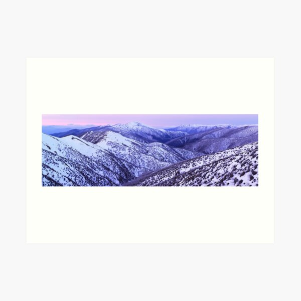 Mt Feathertop Twilight, Victoria, Australia Art Print