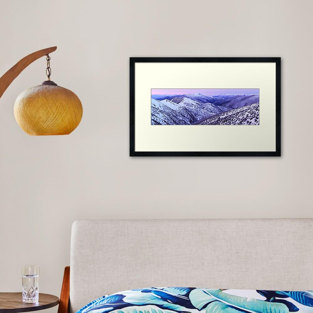 Mt Feathertop Twilight, Victoria, Australia Framed Art Print