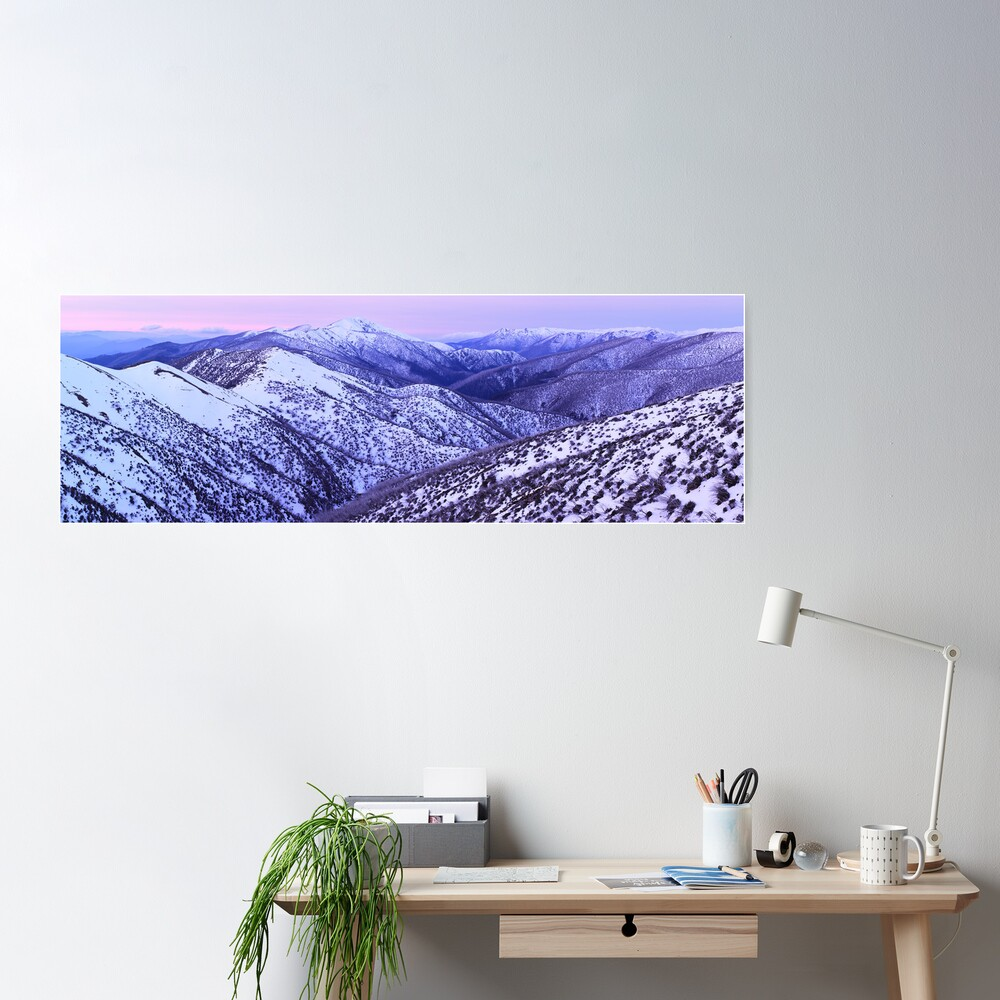 Mt Feathertop Twilight, Victoria, Australia Poster