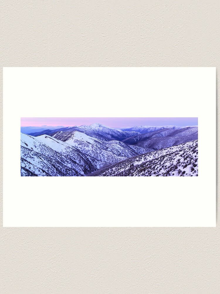 Alternate view of Mt Feathertop Twilight, Victoria, Australia Art Print