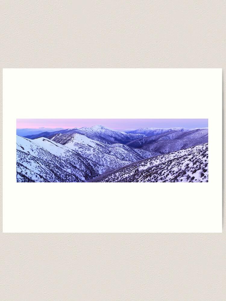 Alternate view of Mt Feathertop Twilight, Victoria, Australia Art Print