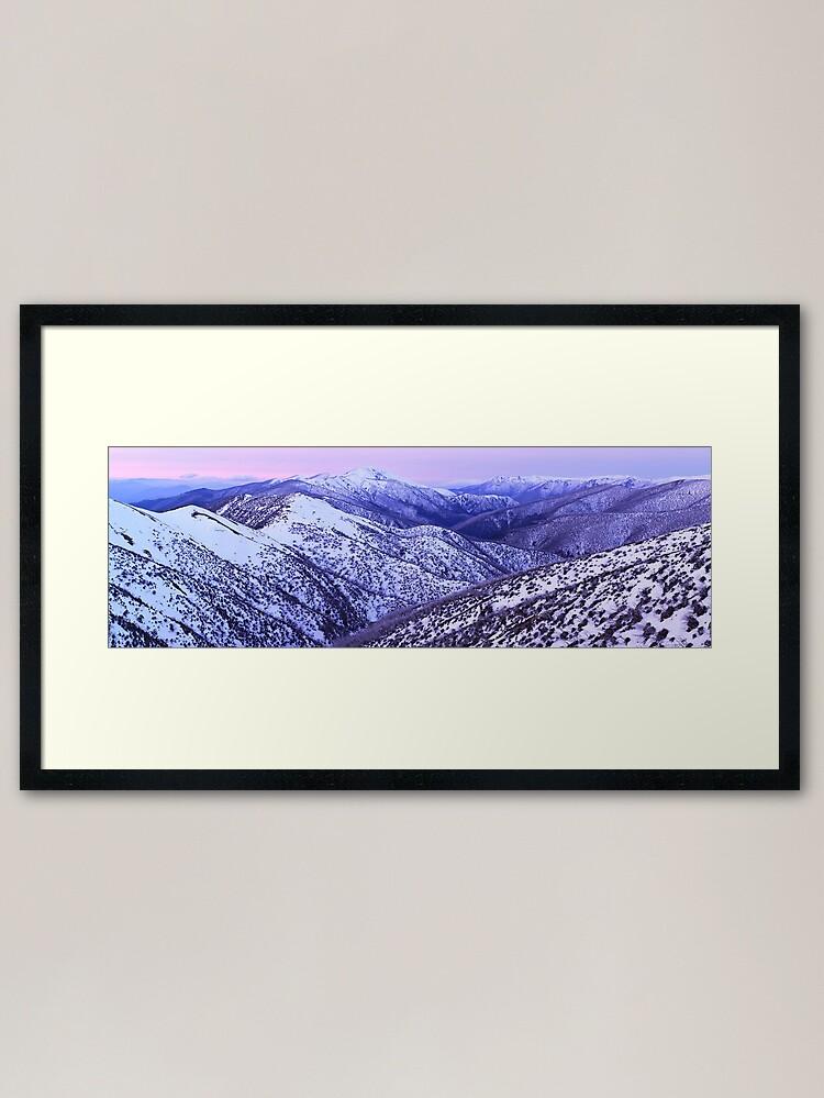 Alternate view of Mt Feathertop Twilight, Victoria, Australia Framed Art Print