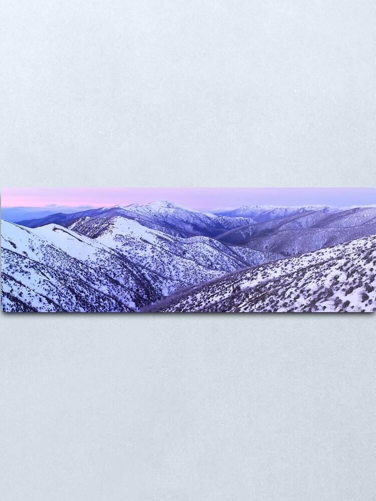 Alternate view of Mt Feathertop Twilight, Victoria, Australia Metal Print