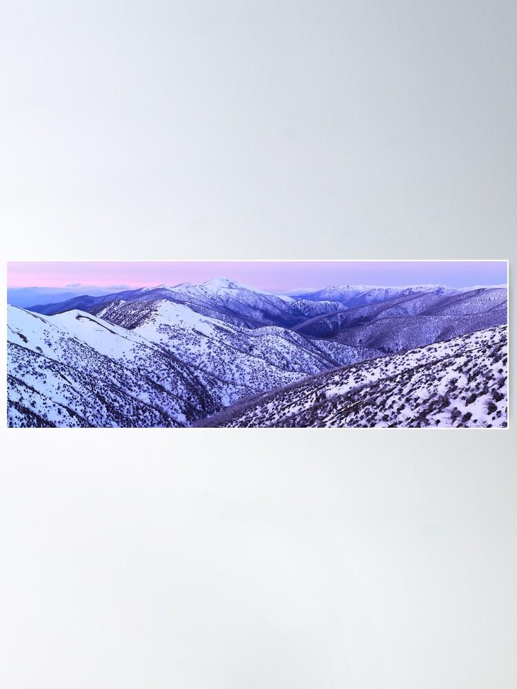 Alternate view of Mt Feathertop Twilight, Victoria, Australia Poster