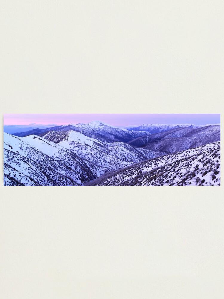 Alternate view of Mt Feathertop Twilight, Victoria, Australia Photographic Print