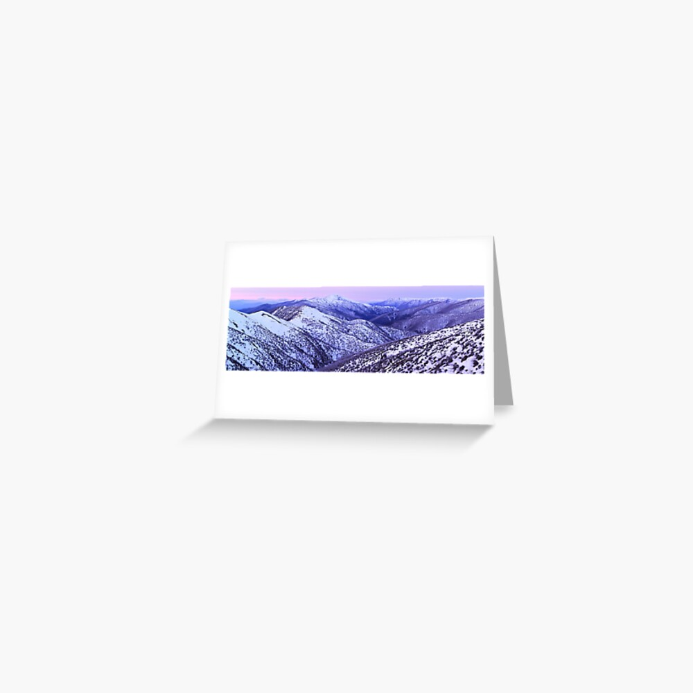 Mt Feathertop Twilight, Victoria, Australia Greeting Card