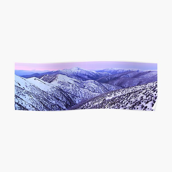 Mt Feathertop Twilight, Victoria, Australia Poster