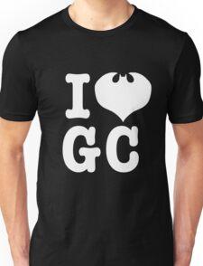 I Love GC: White Text T-Shirt