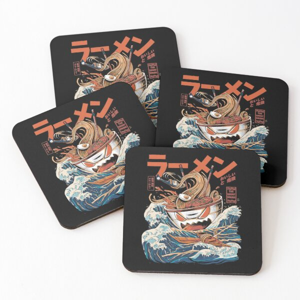 The black Great Ramen Coasters (Set of 4)