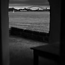 Sailboat, Sydney Harbour Bridge and Verandah by Raoul Isidro