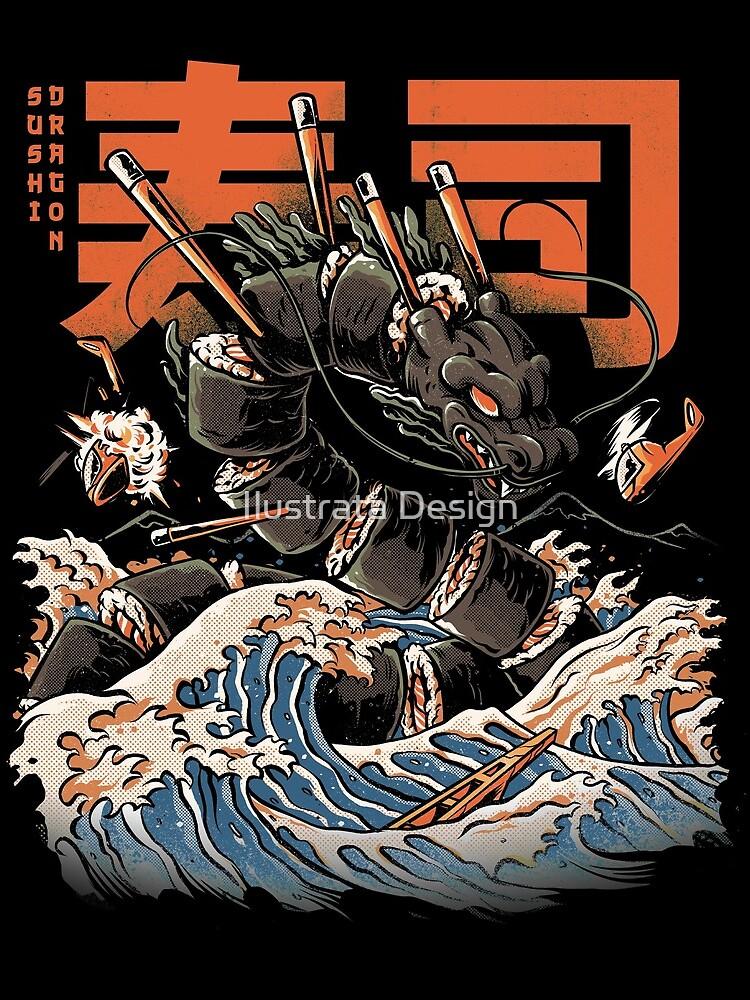 The Black Sushi Dragon by ilustrata