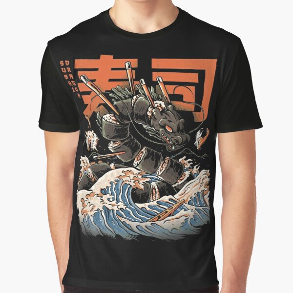 The Black Sushi Dragon Graphic T-Shirt