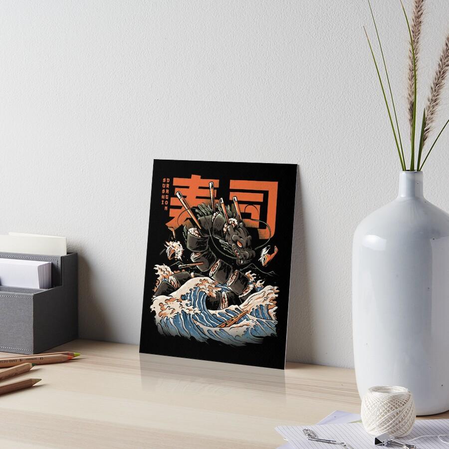 The Black Sushi Dragon Art Board Print