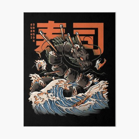 The Black Sushi Dragon Art Board Print