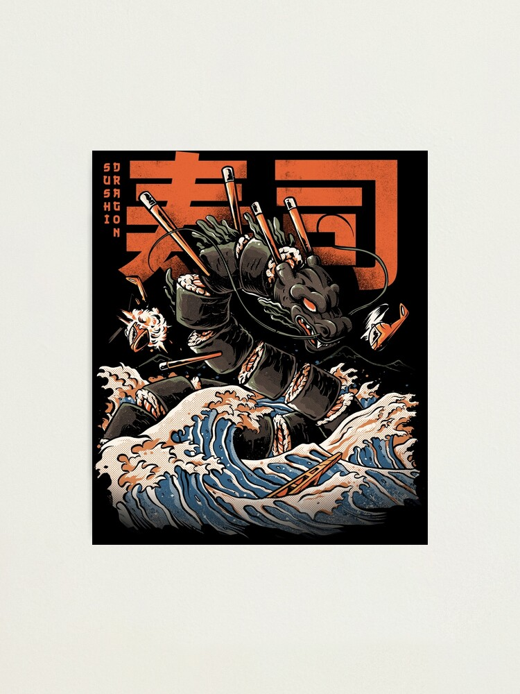 Alternate view of The Black Sushi Dragon Photographic Print