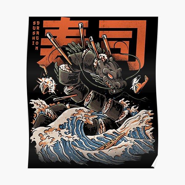 The Black Sushi Dragon Poster