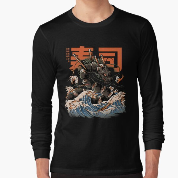 The Black Sushi Dragon Long Sleeve T-Shirt