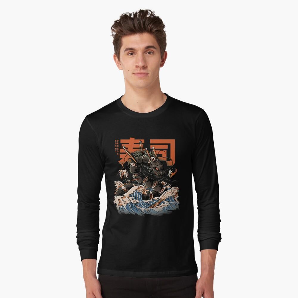 The Black Sushi Dragon Long Sleeve T-Shirt