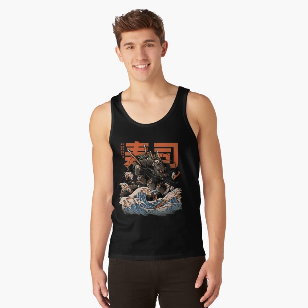 The Black Sushi Dragon Tank Top