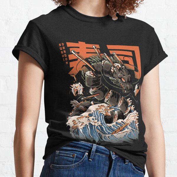 The Black Sushi Dragon T-shirt classique