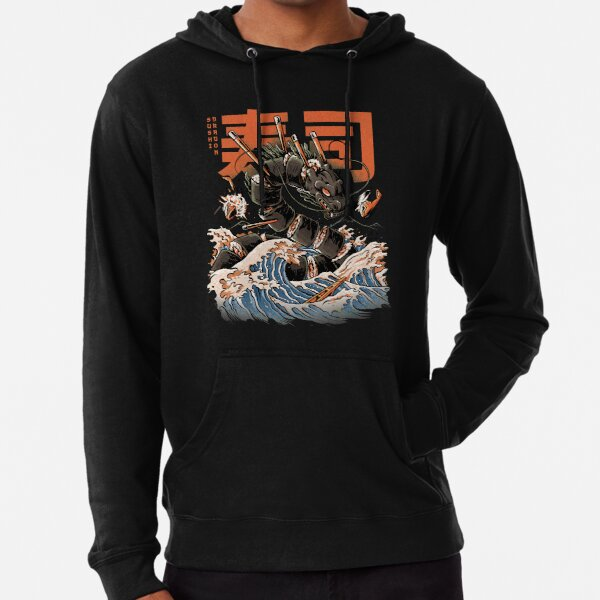 The Black Sushi Dragon Lightweight Hoodie