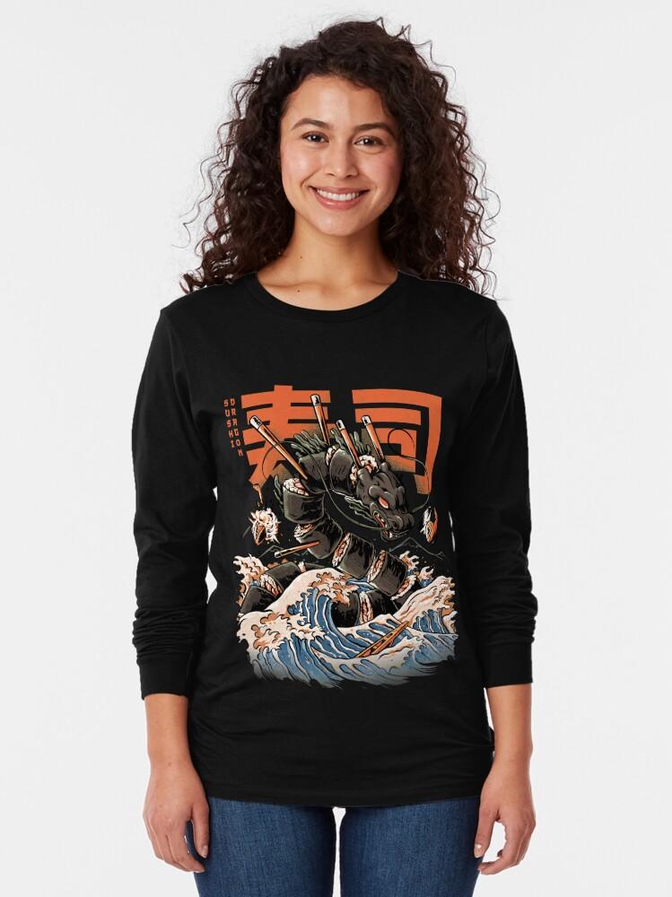 Alternate view of The Black Sushi Dragon Long Sleeve T-Shirt