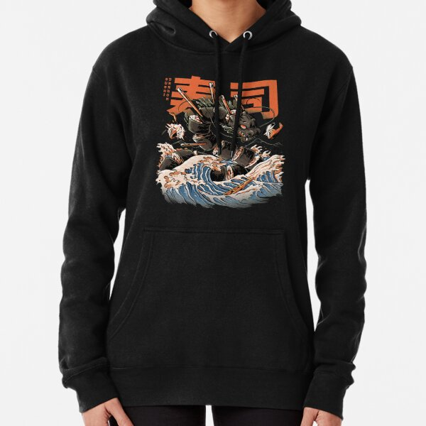 The Black Sushi Dragon Pullover Hoodie