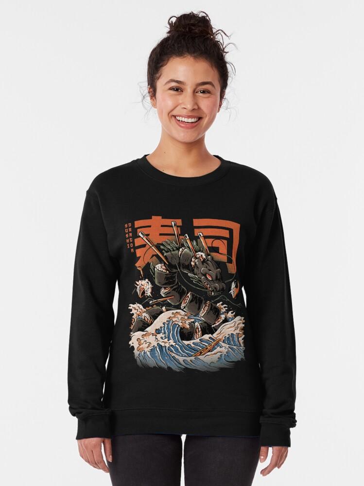 Alternate view of The Black Sushi Dragon Pullover Sweatshirt