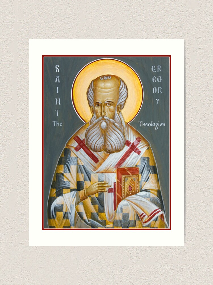 Alternate view of St Gregory the Theologian Art Print
