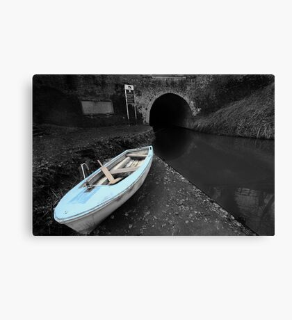 Bruce Tunnel and Little Blue Boat Canvas Print