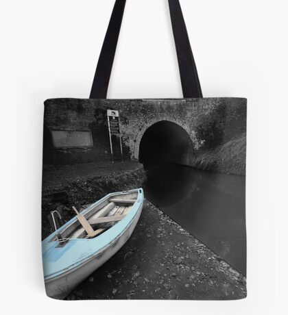 Bruce Tunnel and Little Blue Boat Tote Bag