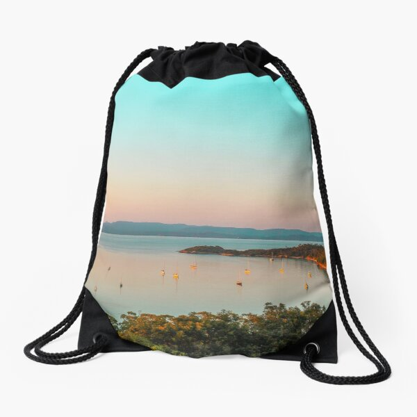 Mediterranean Coast of France Drawstring Bag