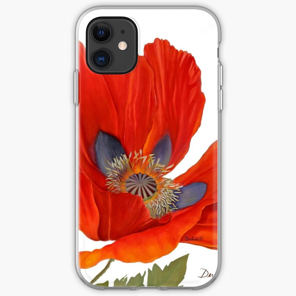 Orange Poppy By Dianna Derhak iPhone Case & Cover