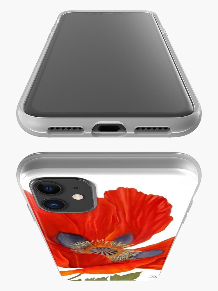 Alternate view of Orange Poppy By Dianna Derhak iPhone Case & Cover