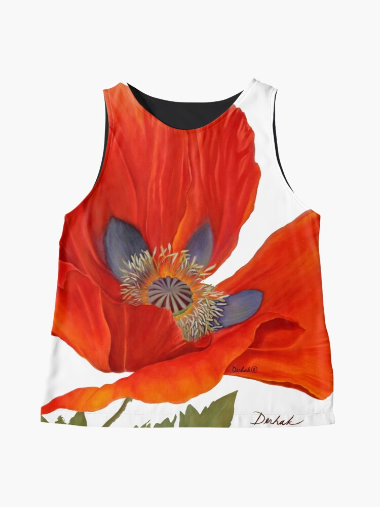 Alternate view of Orange Poppy By Dianna Derhak Sleeveless Top