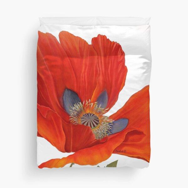 Orange Poppy By Dianna Derhak Duvet Cover