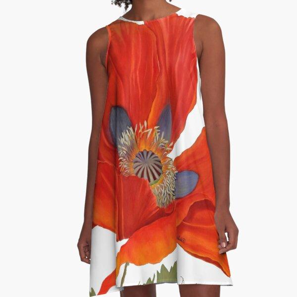 Orange Poppy By Dianna Derhak A-Line Dress