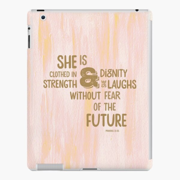 Pretty Painted Modern Typographic Bible Verse. iPad Snap Case