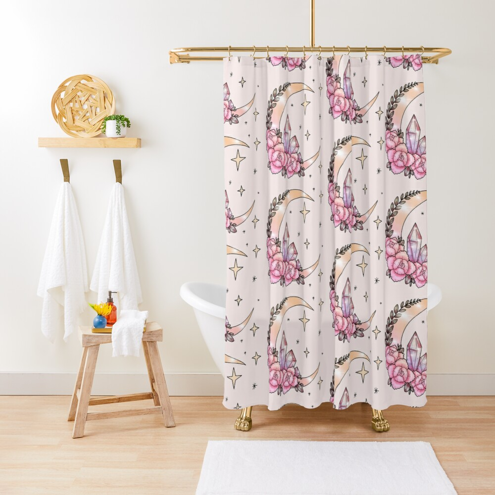 Moon & Crystals Shower Curtain