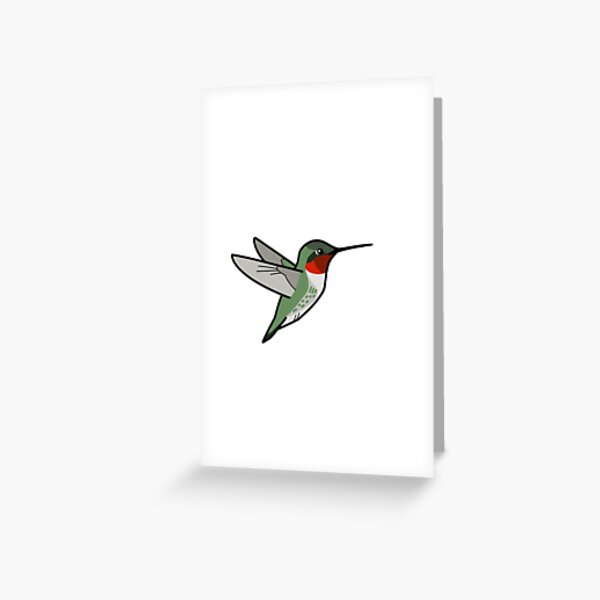 Ruby-throated Hummingbird (male) Greeting Card