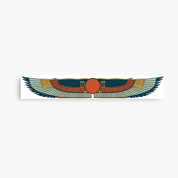 Winged Sun Disk Canvas Print