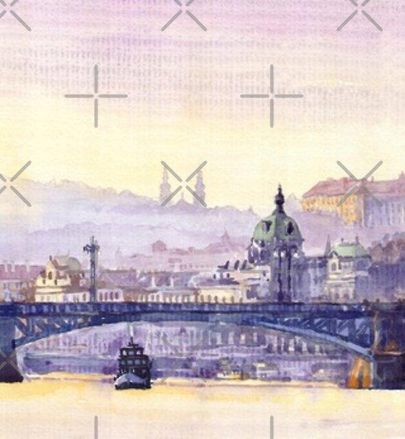 Prague Panorama Chehuv Bridge by Yuriy Shevchuk