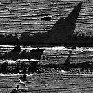 Jagged seas 1 by Richard G Witham