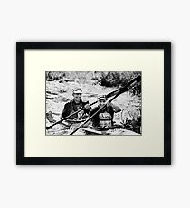 happy as a dog with two tails Framed Print