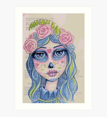 Sugar Skull Girl 1 of 3 Art Print