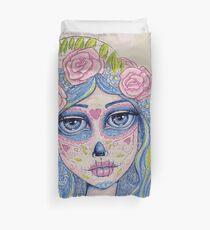 Sugar Skull Girl 1 of 3 Duvet Cover
