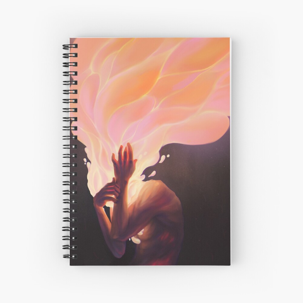 Burning thoughts  Spiral Notebook