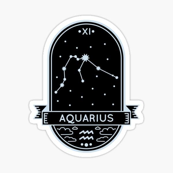 Aquarius Constellation Sticker
