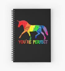 Rainbow Flag - Magical Unicorn - You're perfect! - faith and truth Spiral Notebook