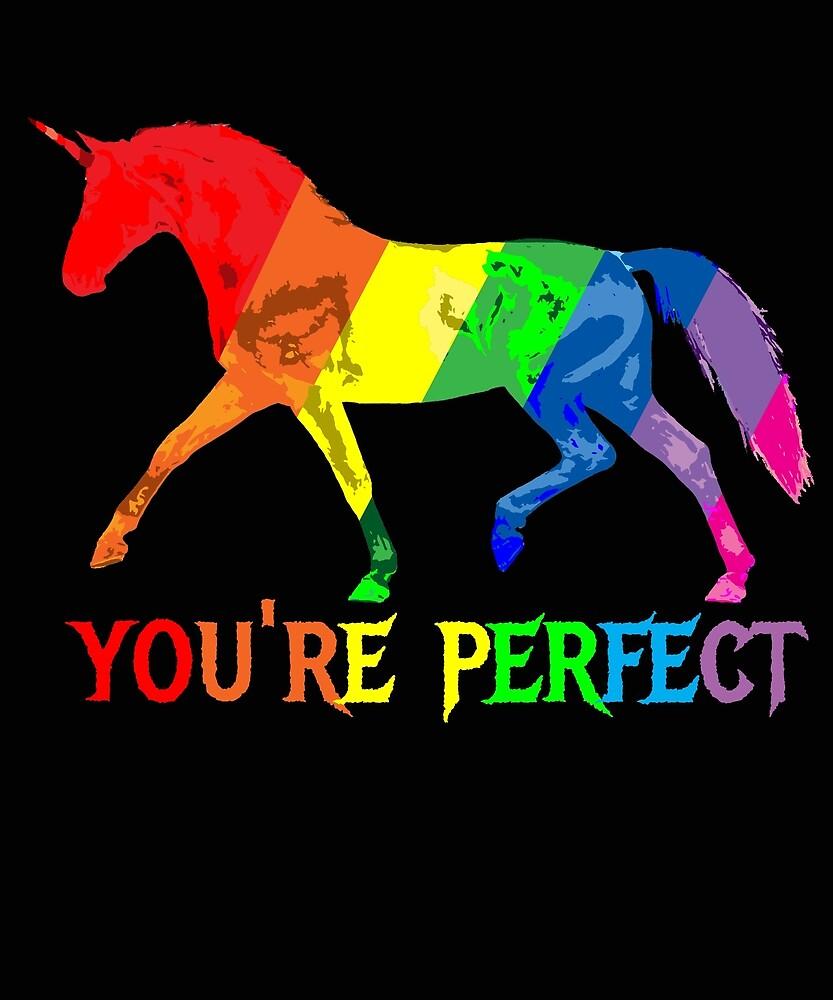 Rainbow Flag - Magical Unicorn - You're perfect! - faith and truth by GundW